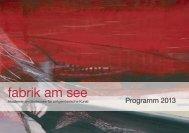 Programm 2013 - Fabrik am See