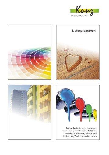 1. Bautenfarben, Lacke, Lasuren