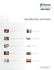 Fleming Specialty Doors and Frames Brochure (English)