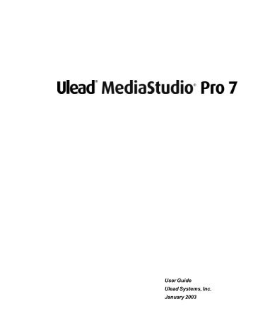 Descargar Ulead Media Studio Pro 7 - Mundo Manuales
