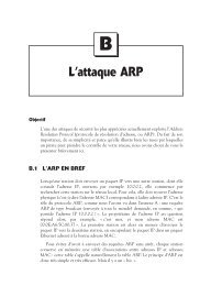 Annexe B : L'attaque ARP