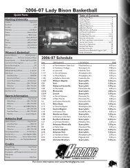 2006-07 Lady Bison Basketball - Harding University Athletics