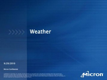 Weather - Micron