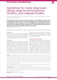 Guidelines for newly diagnosed diffuse large B-cell lymphoma ...