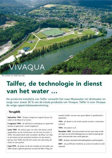 Tailfer, de technologie in dienst van het water … - Vivaqua