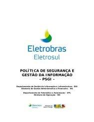 política de segurança e gestão da informação - psgi - Eletrosul