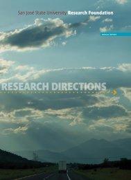 Annual Report 2009 - SJSU Research Foundation