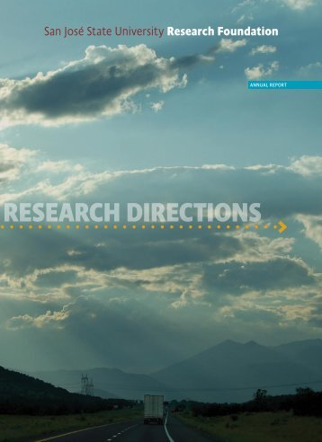 Annual Report 2009 - SJSU Research Foundation