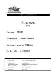 RES 05 - Galenisk farmasi I - 27112006