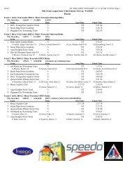 Phil Swim League Inter-Club/Schools 3rd Leg - 9/4/2010 Results ...
