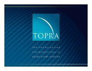 Regulatory Strategy for the Emerging Markets - A. Davidson - TOPRA