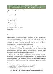 ¿Neutralidad o abstinencia? - Asociación Psicoanalítica del Uruguay