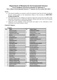 List of candidates selected provisionally for admission to M