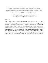 E cient Algorithms for the Minimum Shortest Path Steiner ...