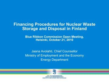 Financing Procedures for Nuclear Waste Storage and Disposal in ...