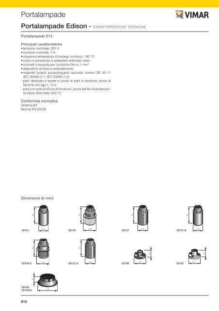 PORTALMPD E14 A SQUADRA BIANCO VIMAR 02135.B