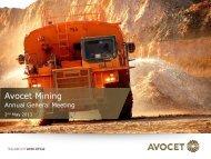 AGM (2013) Presentation - Avocet