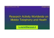 International research projects on RF - WHIST