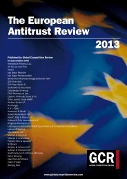 The European Antitrust Review 2013 - ELIG Attorneys at Law