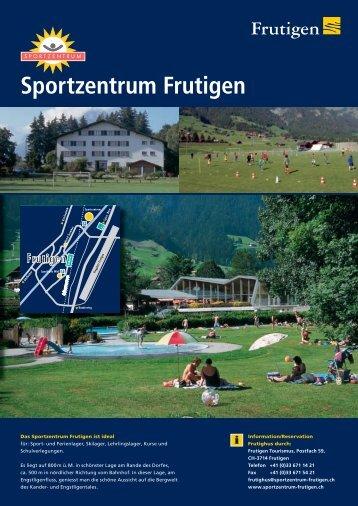 Information/Reservation - Sportzentrum Frutigen