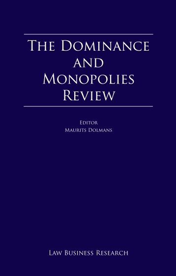 The Dominance and Monopolies Review - ELIG Attorneys at Law