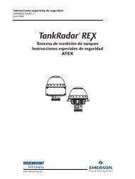 Sistema de medición de tanques Instrucciones especiales de ...