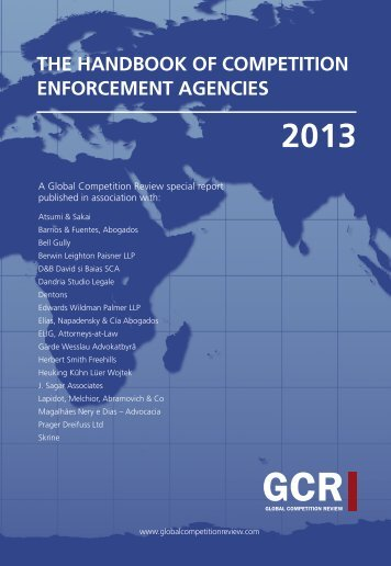 The Handbook of Competition Enforcement Agencies 2013: Countries