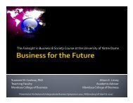 Business for the Future - Mason School of Business
