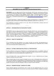 REGLEMENT DU JEU CONCOURS «Quiz TV » - Euronews