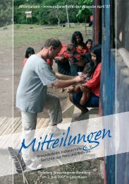 April 2007 - Freundeskreis Indianerhilfe eV