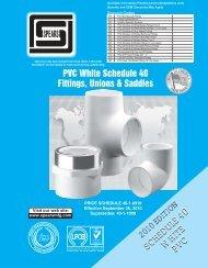 PVC White Schedule 40 Fittings, Unions & Saddles - Aetna Plastics ...