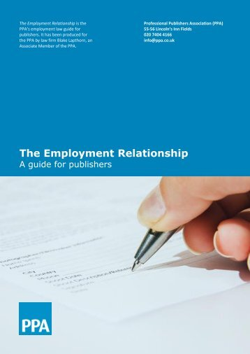 The Employment Relationship - Blake Lapthorn