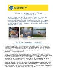 Aktivitets- og velvære weekend i Sverige 7-9. september 2012 ...