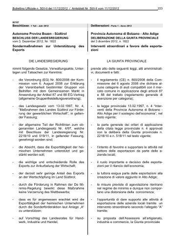 [82107] Bollettino n. 50 del 11/12/2012 - Regione Autonoma ...