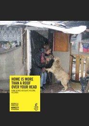 Roma denied adequate housing - Amnesty International