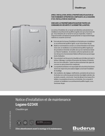 Notice d'installation et de maintenance Logano G234X - Buderus