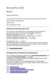 NEWS 1 /2011 - KinderuniSteyr
