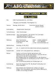 ASC PFINGSTTURNIER 2012 IM FLORETT - Fechten an der USI ...