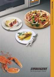 Foodservice equipment solutions - Maestrowave