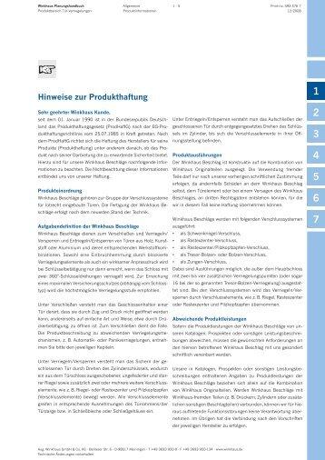 Hinweise_Produkthaftung - Stahltechnik