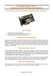 LSI MegaRAID SCSI 320-2E ULTRA320 SCSI PCI EXPRESS RAID ...