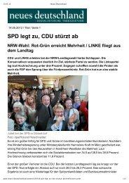 SPD legt zu, CDU stürzt ab - Sagel, Rüdiger (Die Linke)