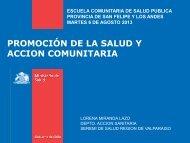 PROMOCIÓN DE LA SALUD Y ACCION COMUNITARIA - Seremi de ...
