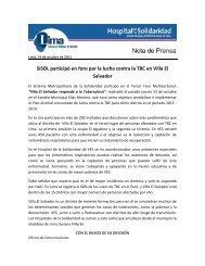 SISOL participó en foro por la lucha contra la TBC en Villa El Salvador