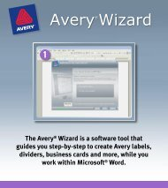 The Avery® Wizard is a software tool that guides you step-by-step to ...