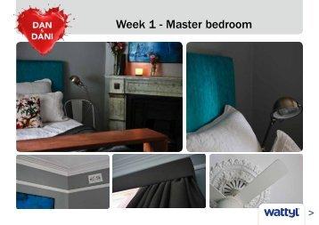 Week 1 - Master bedroom - Wattyl