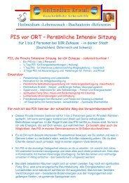 PIS vor ORT – Persönliche Intensiv Sitzung - Manuela Vogt-Ramseier