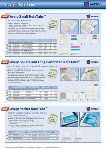 Avery® Note Tabs