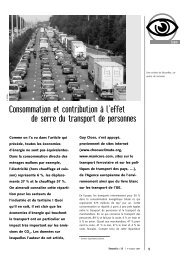 Consommation et contribution à l'effet de serre du transport ... - APERe