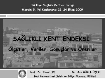 sağlıklı kent endeksi - Türkiye Sağlıklı Kentler Birliği